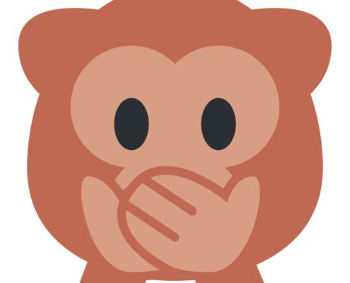 abe emoji der holder sig for munden