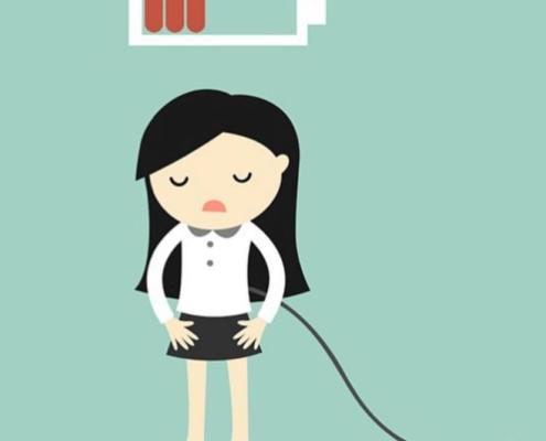the mental load, nedkørt, energiforladt